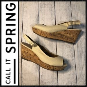 Call It Spring Wedges sz 8 NWIB